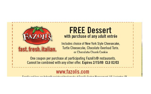 Fazoli's coupons